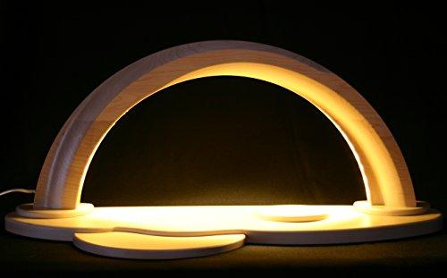 LED Design Schwibbogen modern Ahorn Natur unbestückt groß 58cm Erzgebirge