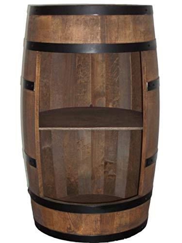 Weinfass Stehtisch - Mini Bar Regal Rund - Alkohol Shrank Flaschenregal Holz Regale - Holzfass Deko - Hausbar Theke - Fassmöbel - Wine Rack - Möbel Wohnzimmer - Fassbar minibar 80Cm High (Wenge)