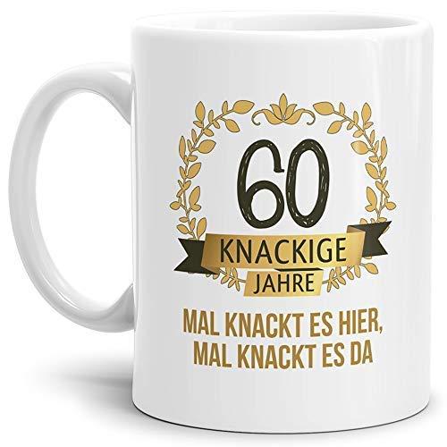 Tassendruck Geburtstags-Tasse Knackige 60' Geburtstags-Geschenk Zum 60. Geburtstag/Geschenkidee/Scherzartikel/Lustig/Witzig/Spaß/Fun/Mug/Cup Qualität - 25 Jahre Erfahrung