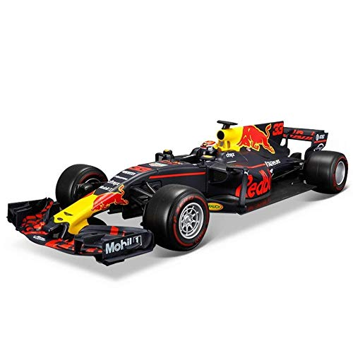 KKD Scale-Modellfahrzeuge Simulationsmodell Auto 1:18 Formel F1 Meisterschaft 2018 Ferrari SF71H Red Bull Mercedes Racing Simulation Legierung Automodell Geschenk Mini Fahrzeuge (Color : BLACK)