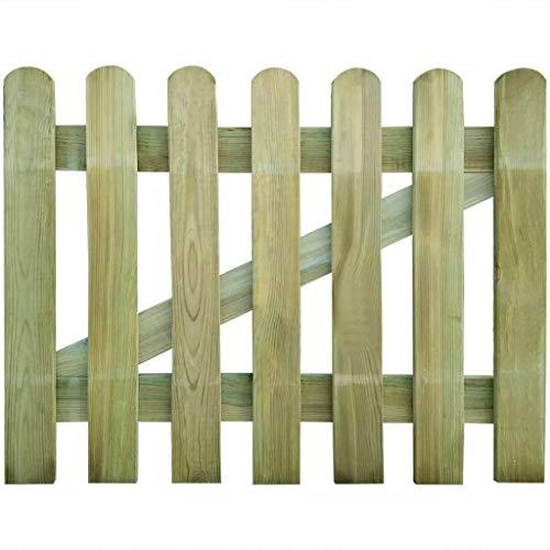 vidaXL Holz Imprägniert Gartentor 100x80cm Holztor Lattenzaun Zauntür Pforte