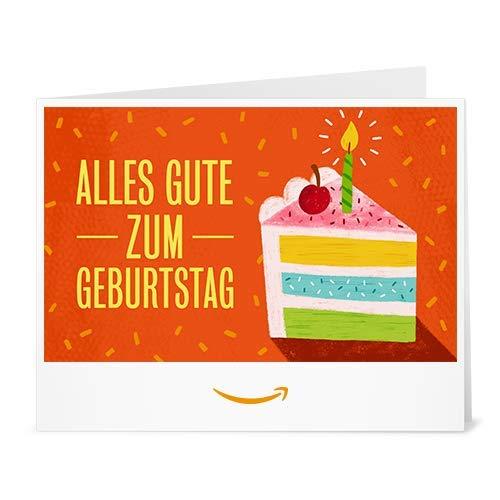 Amazon.de Gutschein zum Drucken (Geburtstagskuchen)