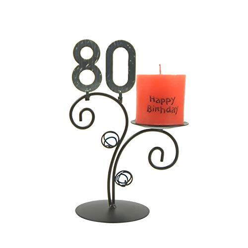 SünGross Leuchter Happy Birthday (80. Geburtstag)