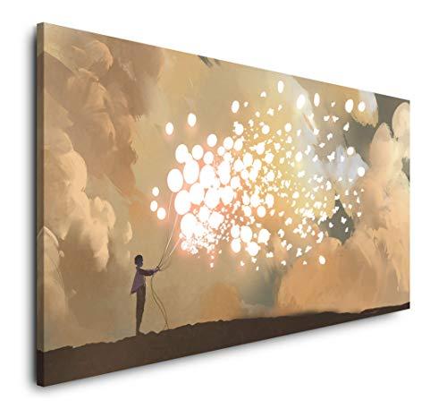 Paul Sinus Art Malerei 120x 60cm Panorama Leinwand Bild XXL Format Wandbilder Wohnzimmer Wohnung Deko Kunstdrucke
