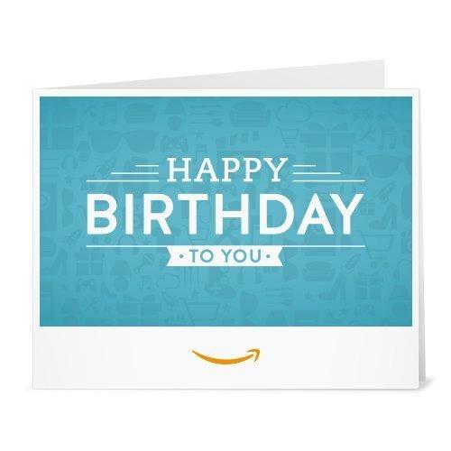 Amazon.de Gutschein zum Drucken (Happy Birthday (blau))