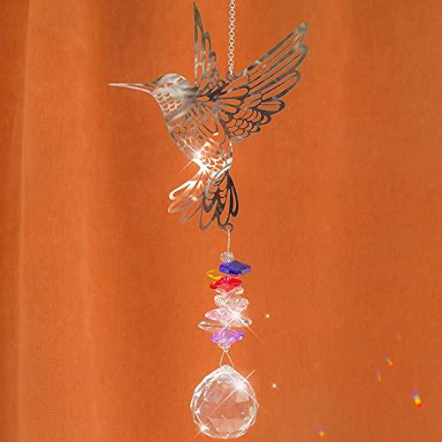 Cosylove Kolibri Kristall Suncatcher Anhänger hängenden Kronleuchter Prisma Regenbogen Maker Ornament für Fenster Sun Catcher Hausgarten Dekoration