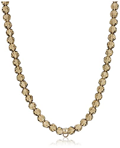 ESPRIT Damen-Charmskette Taupe Stones ESNL91755I800