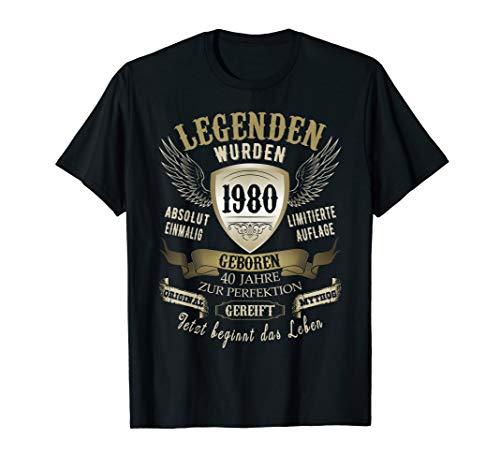 Geschenk zum 40 Geburtstag Jahrgang 1980 40 Jahre 2020 T-Shirt
