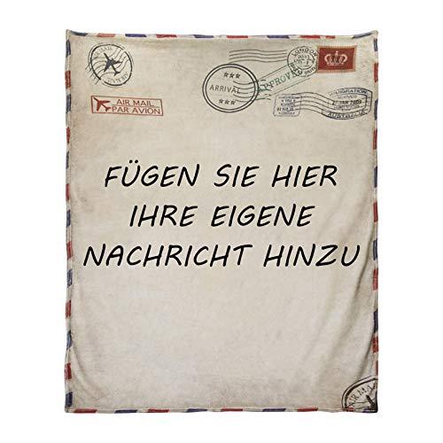 AHWZ Kuscheldecke Tochter Personalisierte Decken Pflegende Decken