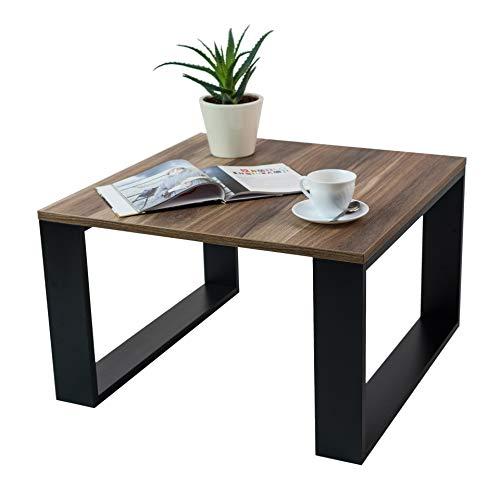 Clif - Wohnzimmer Couchtisch Modern Wohnzimmertisch Universal, 65 x 65 x 40 cm Smart Living Beistelltisch Kaffeetisch Rechteckiger Sofatish (Nuss)
