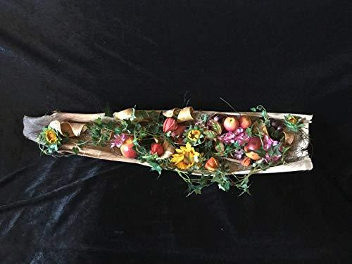 Gefülltes Kokosblatt: Herbstlich dekoriert als Wand- oder Tischschmuck