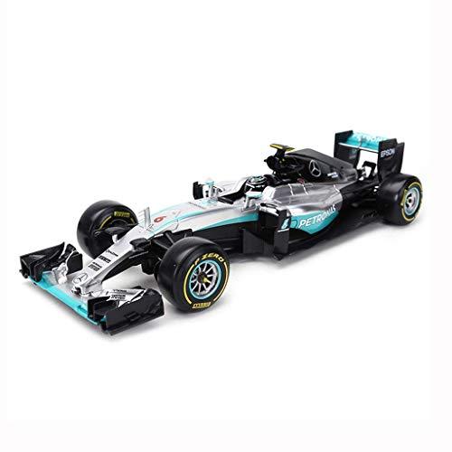 KKD Scale-Modellfahrzeuge Modellauto 1:18 Formel F1 Meisterschaft 2018 Mercedes-Benz Racing Legierung Dekoration Geburtstag Urlaub Geschenk Büro Dekoration Mini Fahrzeuge (Color : Silver)