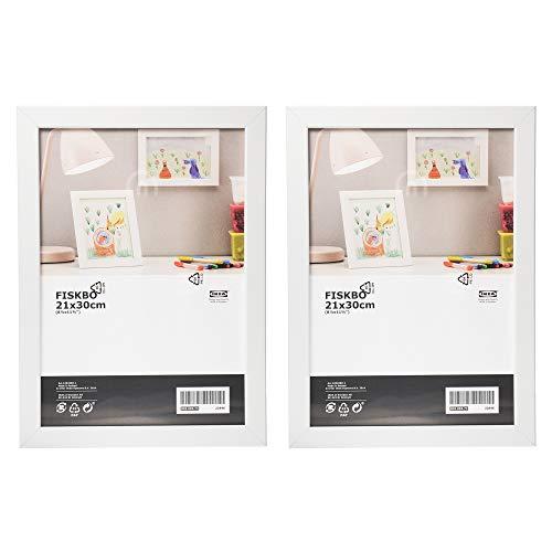 Ikea Fiskbo Bilderrahmen, A4, 21 x 30 cm, weiß, 2 Stück