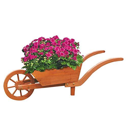 Pflanzschubkarre Blumenkarre Gartendeko Blumentopf Pflanztopf Terrasse Balkon