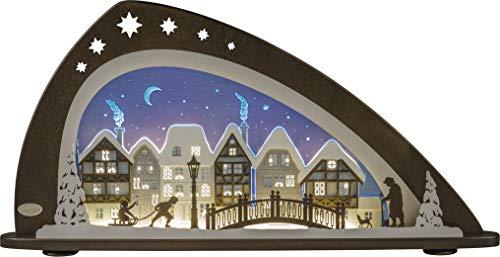 weigla LED Schwibbogen/Lichterbogen'Winter in der Altstadt' Erzgebirge garantiert