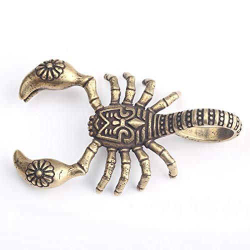 WGLG Handgemachte Massive Kupfer Skorpion Schlüsselbund Messing Schlüsselanhänger Anhänger Vintage kreative Persönlichkeit Schlüsselring Maskottchen Schlüsselhalter Schmuck