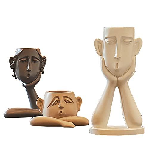 Skulptur Deko Modern Skulptur Liebespaar Dekorationen Für Das Wohnzimmer Modern Moderne Vase, Harz Figur Wohnkultur Mediterran Inspiriert Dekorativ, Geschenk Bereit Für Hochzeiten