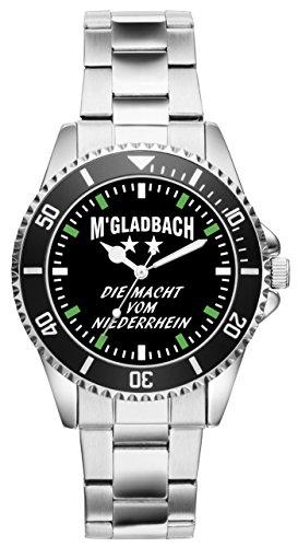KIESENBERG Herrenuhr Armbanduhr Gladbach Mönchengladbach Geschenk Fan Artikel Zubehör Fanartikel Analog Quartz Uhr 6035