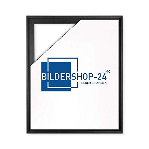 Bildershop-24 Schattenfugen - Rahmen LEMGO 100x150cm Schwarz (matt) - 7 Farben 73 Formate Massivholz