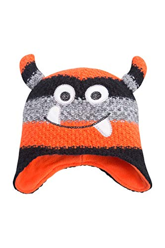 Mountain Warehouse Monster Stripe Kindermütze, Für Winter Orange