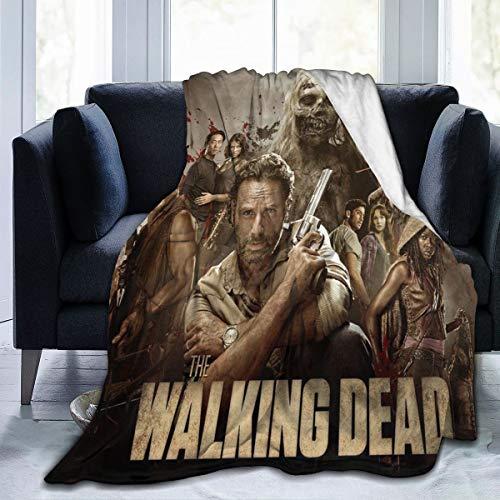 Lphdfoxh1 The Walking Dead Deckenbezug Decke Flanell Wolldecke Reise-Super Weiche Flauschige Warme Sofadecke