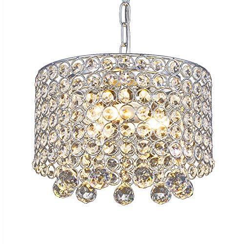 Moderne Kristall-Kronleuchter, 3-Licht Einbau Deckenleuchte 9,8 Zoll Durchmesser für Flur, Esszimmer, Schlafzimmer, Wohnzimmer, Küche