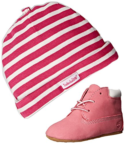 Timberland Unisex Baby Chukka Boots mit Hut , Rosa, 17 EU (1.5 UK Child UK)