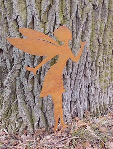 Deko-Impression Zauberhafte Fee Elfe Gartenstecker Gartendeko Eisen rostig 40 cm