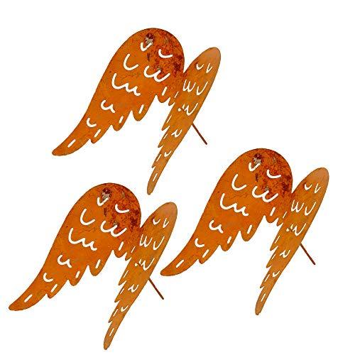 Gartenzaubereien Engelsflügel mit Spieß 3er Set