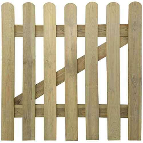vidaXL Holz Imprägniert Gartentor 100x100cm Holztor Lattenzaun Zauntür Pforte