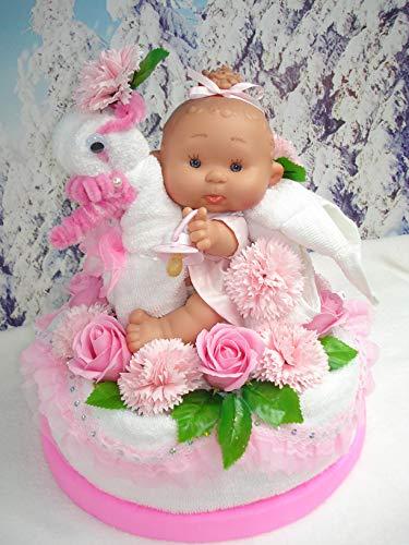 Handtuchtorte Wellness Seifen Blumen Seifen Rosen Baby Puppe Geldgeschenk Geburtstag Jubiläum