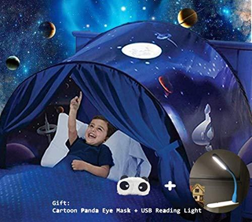 Nifogo Bettzelt,Bed Tents,Traumzelt,Dream Tent,Children's Tents,Kid's Fantasy,Drinnen Kinder,Space Tents,Jungen und Mädchen Weihnachten Geburtstagsgeschenk (Universum)
