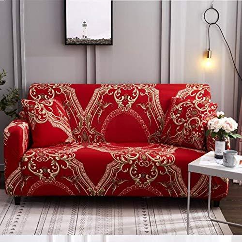 Sofabezug aus weichem Stretch-Sofa, 1/2/3/4-Sitzer, solider Bezug, Anti-Milben-Schutz, Couch-Bezug, Sesselbezug, Heimdekor, Stretch-Sofabezug, abnehmbar (Farbe: 2, Größe: 90 cm - 140 cm - Einzelbett)