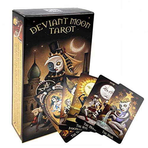 GWQDJ Abweichende Mond-Tarot-Karte, 78pcs Neue Englische Tarot-Decks, Lustige Brett-Spielkarte Für Freund-Party
