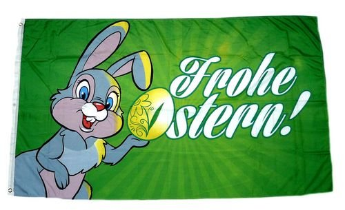Fahne/Flagge Frohe Ostern Osterhase 90 x 150 cm