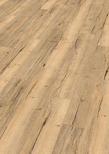 EGGER Home Comfort - Design Korkboden hell braun Holzoptik, Halifax Eiche EHC011 (8mm, 1,995m²) Designboden Kork Laminat mit Trittschalldämmung - warm & leise
