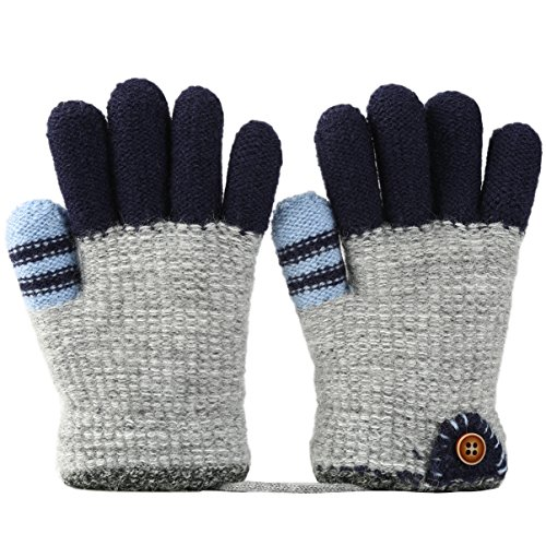 VBIGER Kinder Handschuhe verdickte Gestrickte Handschuhe Weiche Outdoor Winterhandschuhe Warme Handschuhe …