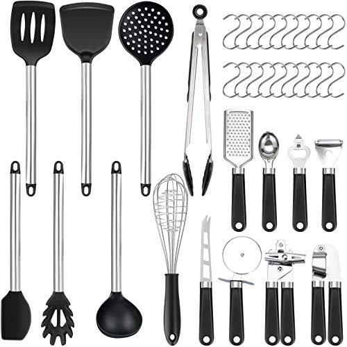 36er Küchenhelfer Küchenutensilien Set   Silikon Antihaft Hitzebeständiger Silikonspatel Set   Home Kitchen Cooking Tools Küchenhelfer Utensilien Kochgeschirr Kitt