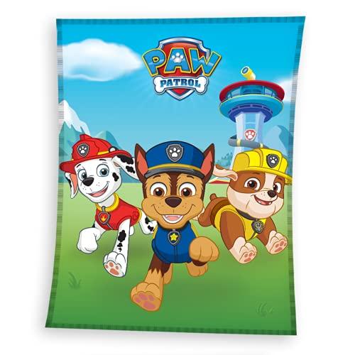 Paw Patrol Decke kuschelig & weich 130x170 cm · Fleece-Decke für Mädchen und Jungen · Kuscheldecke
