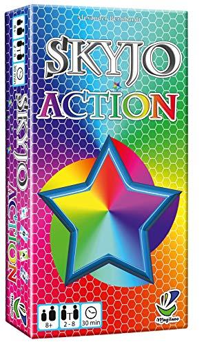 Magilano SKYJO Action, spannende Kartenspiel für spaßige und amüsante Spieleabende im Freundes- und Familienkreis.