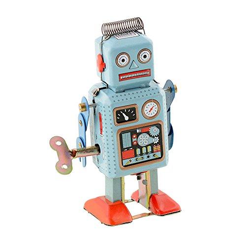 Lustige Dunkelgrün Uhrwerk Frühling Walking Robot Retro Mechanische Spielzeug Geschenk MS294