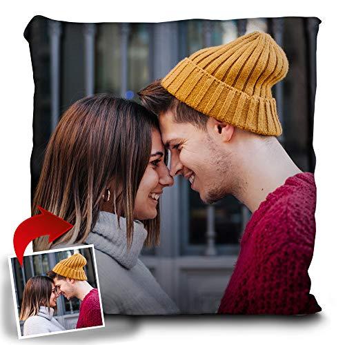 Lolapix Personalisiertes Kissen mit Foto/Design. Originelles Geschenk.Inklusive Füllung. Verschiedene Größen zur Auswahl. 30x30