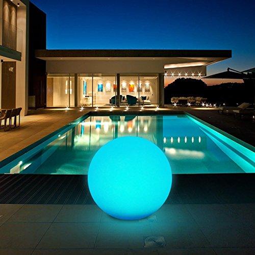 Solarleuchte, Solarlampe für Außen, Kugelleuchten mit 30cm Durchmesser und 8 Verstellbarer Farben, Wasserdichte IP67, Coziselect