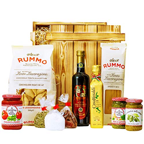 Geschenkset Pisa   Großer Italien Geschenkkorb mit Pasta, Feinkost & italienische Spezialitäten   Delikatessen Präsentkorb italienisch gefüllt für Frauen & Männer