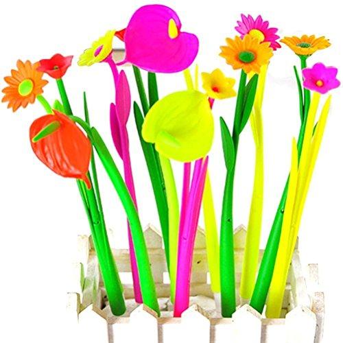 Neuheit Werkzeug Stifte Set Schreibfarbe Kugelschreiber für Schule Büro Schüler Supplies Geschenk Kind Spielzeug Flower 10pcs