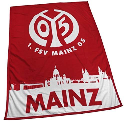 1. FSV Mainz 05 Fleecedecke Stadtsilhouette 150x200