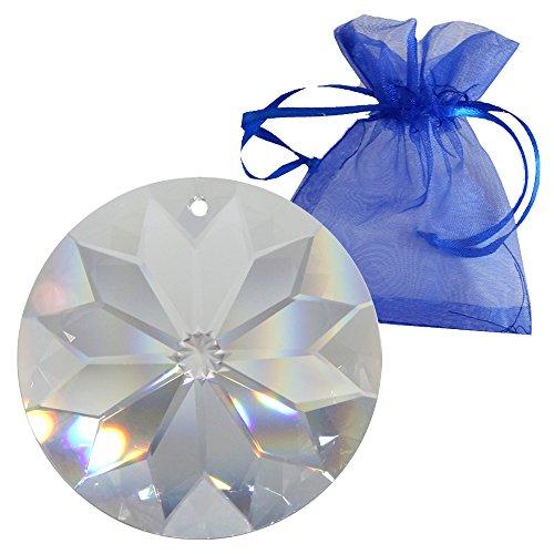 Kristall Sonne ø 40mm im feinem Geschenkbeutel Hoch Brillant Regenbogenkristall Feng Shui Fenster-Deko 30% Pbo