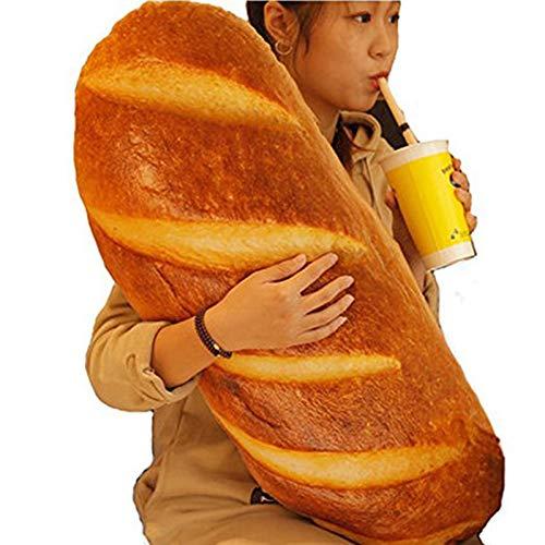 Outtybrave 3D-Brot-Kissen in Form von Lebensmitteln Kissen Stofftier Heimdekoration, lustiges Geschenk, Butter Bread, 80 cm