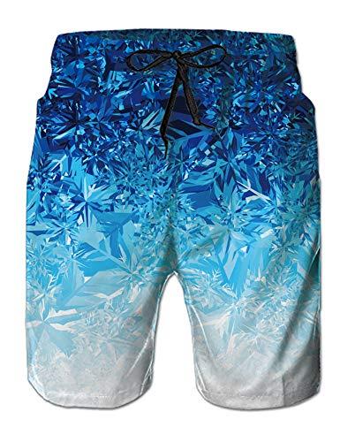 NEWISTAR Badehose für Männer Junge mit Tasche 3D Lustig Endurance Boardshorts Kurze Hosen für Sommer Strand Karneval Fasching