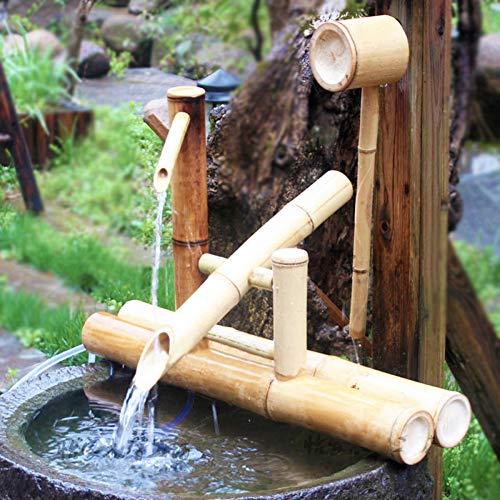 zenggp Zen Garden Water Fountain Bambus Wasserspiel Schaukelpumpe Wasserlandschaft , Japanische Gartendekoration